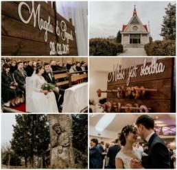 ślub zimowy - klatki filmowe z pięknego filmu ślubnego